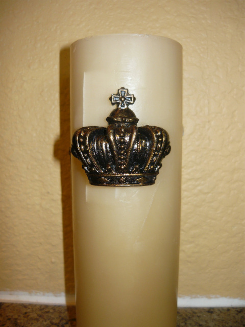 Set Of 2 Crown Candle Accent Pins Candle Tack Old World