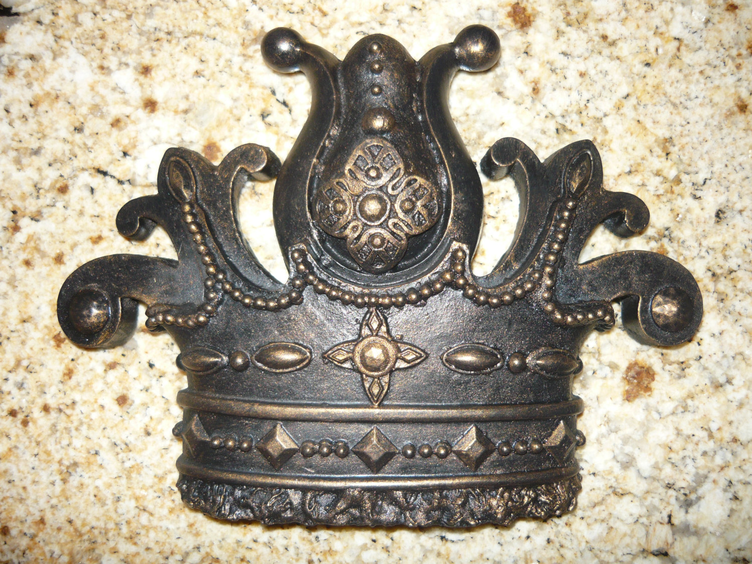 Royal crown wall plaque wall decor medieval old world for Medieval decor